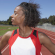 Portrait of female track and field participant — Stock Photo #13235683