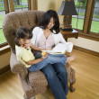 Mother reading to daughter — Stock Photo