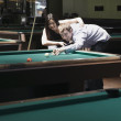 Stock Photo: Couple playing pool