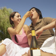Stock Photo: Couple having a picnic