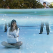 Stock Photo: South Americbusinesspeople in swimming pool