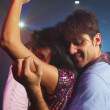 Stock Photo: Hispanic couple dancing at nightclub