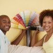 Couple with color swatches — Stock Photo #13236665