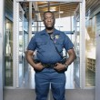 Security officer posing — Stock Photo