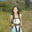 Stock Photo: Female hiker in rural setting