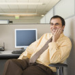 Businessman sitting at his desk — Stock Photo