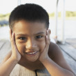 Young boy smiling for the camera — Stock Photo #13237944