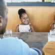 Family at table in restaurant — Stock Photo