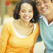 Stock Photo: Portrait of couple smiling