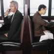 Stock Photo: Two businesspeople in restaurant