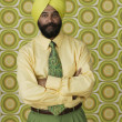 Indian businessman with telephone — Stock Photo