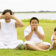 Royalty-Free Stock Photo: See no evil, speak no evil, hear no evil