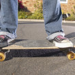 Low section of teenagers on skateboards — Stock Photo #13239095