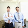 Portrait of two Hispanic businessmen in office — Stock Photo