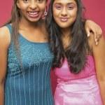 Portrait of two teenage girls — Stock Photo