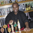 Stock Photo: Portrait of male bartender
