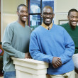 Portrait of father and sons — Stock Photo
