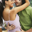South American couple dancing — Stockfoto