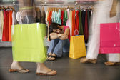 Women in clothing store — Stock Photo