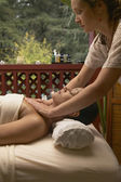 Woman getting massage at spa — Стоковое фото