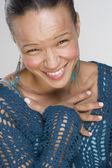 Retrato de mulher rindo — Fotografia Stock