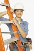 Portrait of Hispanic female construction worker — Stock Photo