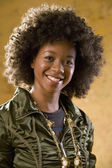 Portrait of African woman wearing funky outfit — Stock Photo