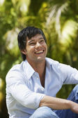 South American man laughing — Stock Photo