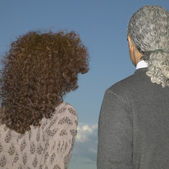 Rear view of couple — Stock Photo