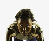 Portrait of female athlete — Stock Photo