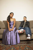 Portrait of teenage couple — Stock Photo