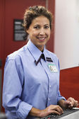 Portrait of airline worker — Stock Photo