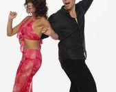 Professional dancers dancing — Stock Photo