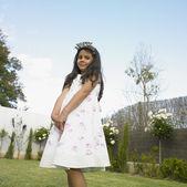 Dziewczyna młoda indyjski urodzinowy — Zdjęcie stockowe