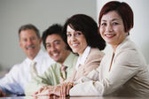 Portrait of businesspeople in conference room — Stock Photo