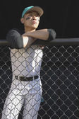 Baseball player watching game — Stock Photo