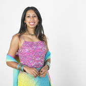 Portrait of Indian woman wearing bright clothing — Stock Photo