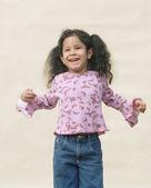 Little girl smiling — Stock Photo