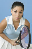 Teen girl ready to play tennis — Stock Photo