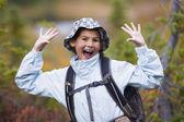 Young girl posing outdoors — Stock Photo
