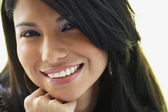 Close up of South American woman smiling — Stock Photo