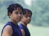 Retrato de meninos gêmeos — Foto Stock