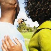 Biorąc kilka afrykańskich własne zdjęcie — Zdjęcie stockowe