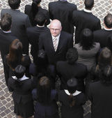 High angle view of large group of businesspeople — Stockfoto