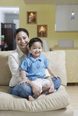 Portrait of mother and son — Stock Photo