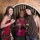 Group of female friends having drinks — Stock Photo