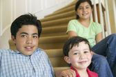 Portrait of sister and brothers — Stock Photo