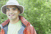 Young man wearing a hat outdoors — Stock Photo