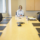 Portrait of businesswoman in conference room — Stock Photo
