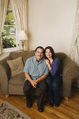 Portrait of middle-aged Hispanic couple — Stock Photo
